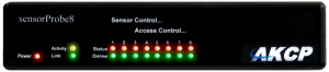 sensorProbe8 computer room monitoring device - snmp and email alerting