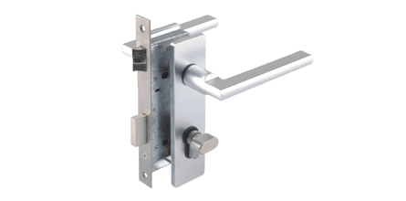 Heavy Duty Electronic Door Lock with Cylinder and Dead Latch Handle - A high strength heavy duty electronic door lock that is compatible with all our Access Control products