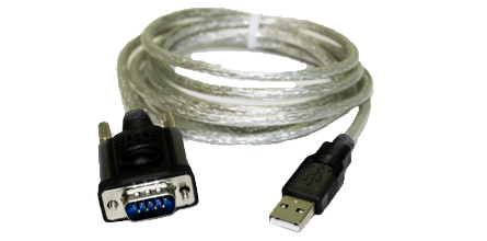 USB to Serial Adapter - This adapter converts a serial interface to a USB input