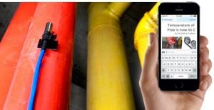 Hot / Cold Water Pipe Sensor Mobile SMS Notification