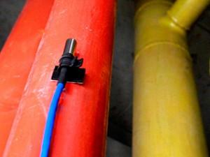 Temperature Sensor installation on a hot / cold water pipe