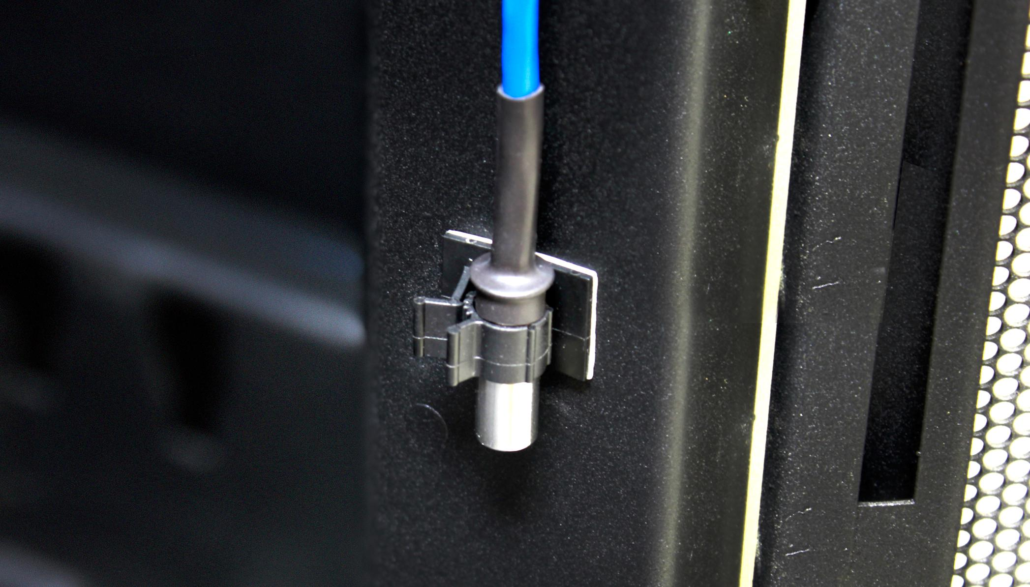 AKCP Temperature Sensors are easily installed using the included free sensor clips.