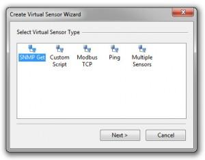 Create a SNMP and Modbus Virtual Sensor