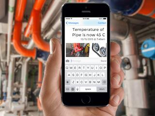 Monitor water pipe temperature and receive SMS / EMails