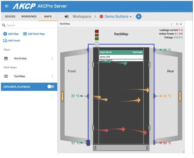 Cabinet Rack Maps in AKCPro Server