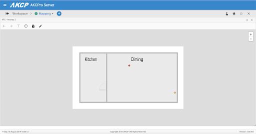 AKCPro Server drill down mapping to restaurant floorplan