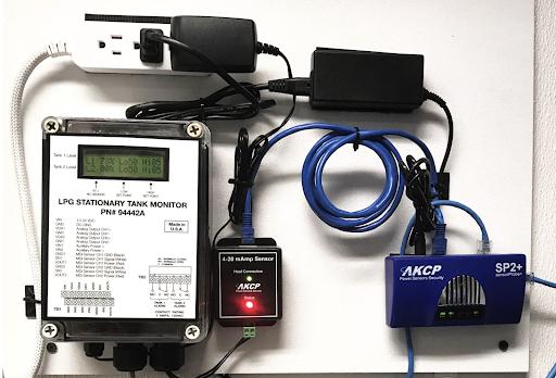 AKCP SP2+ with 4-20mAmp convertor monitoring KPG tank sensor
