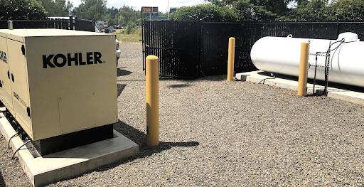 Kohler Genset and LPG tank on site.