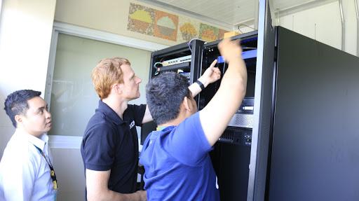 Installing L-DCIM at 4th floor data center
