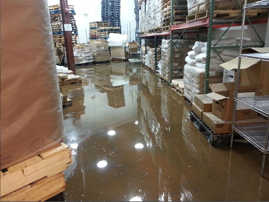 warehouse flood prevention
