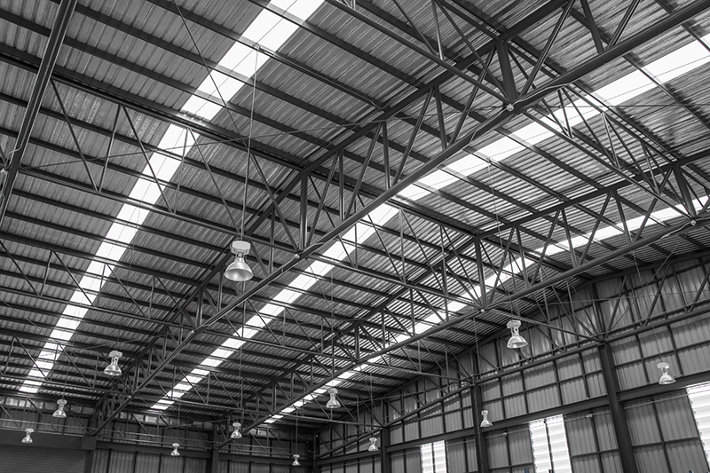 LEED certified skylights in warehouse