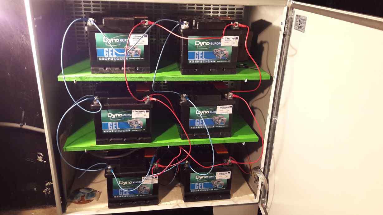 Gel type deep cycle batteries wee installed