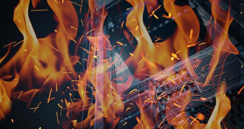 Data center fire