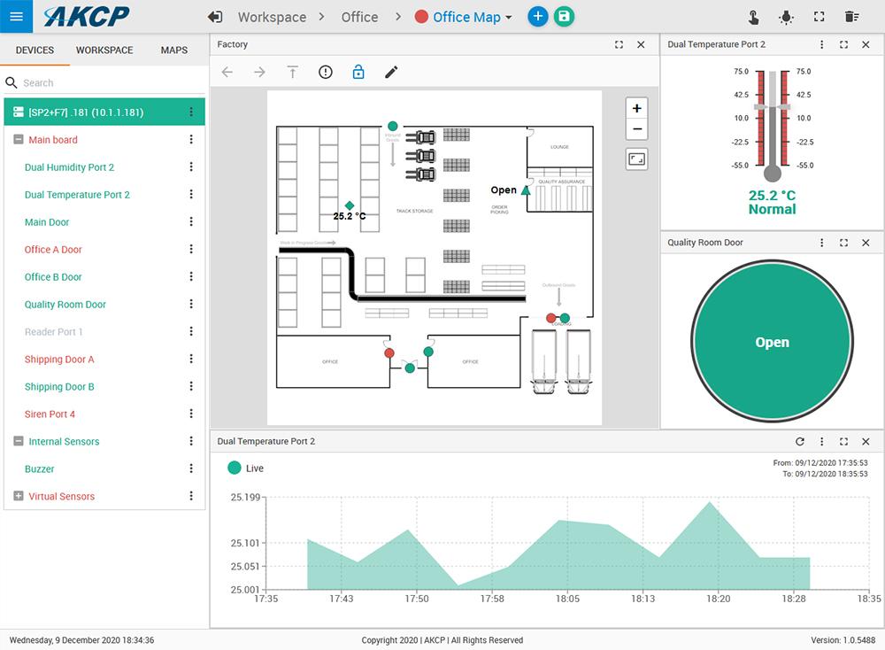 sensorProbe+ firmware release screen shot
