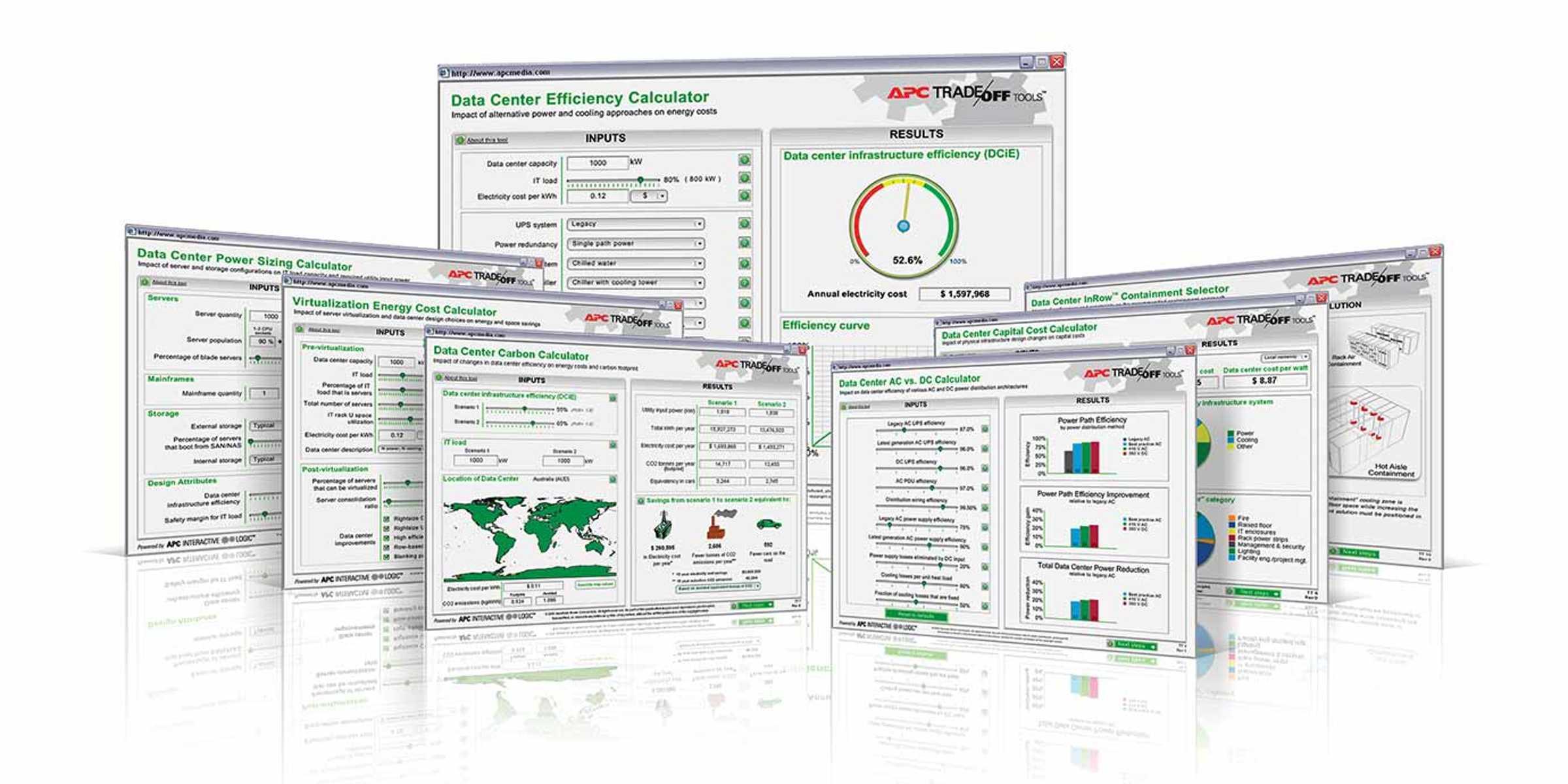 data center PUE trade off tool