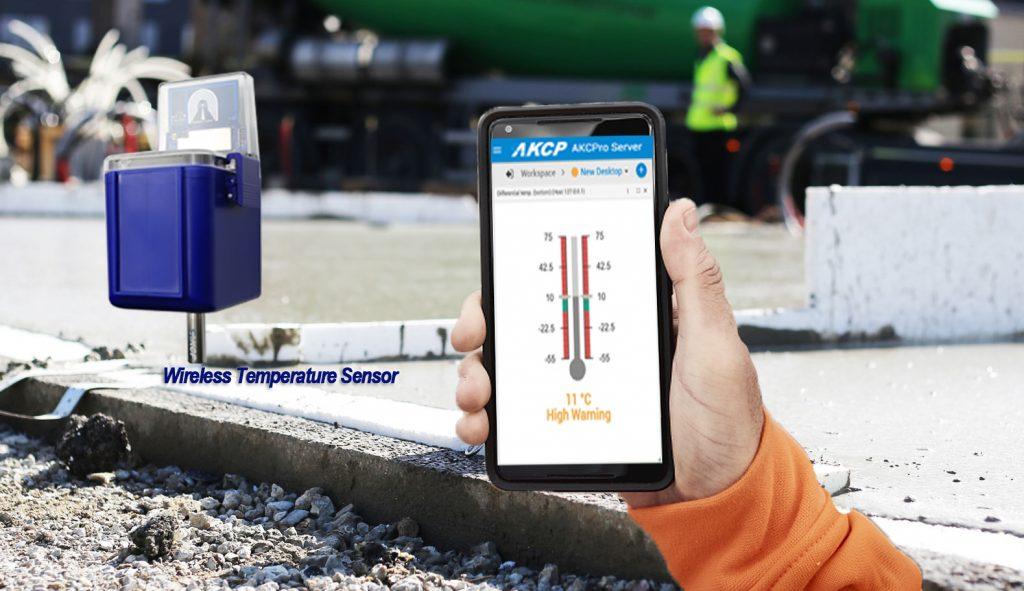 monitoring concrete temperature using AKCP Solutions