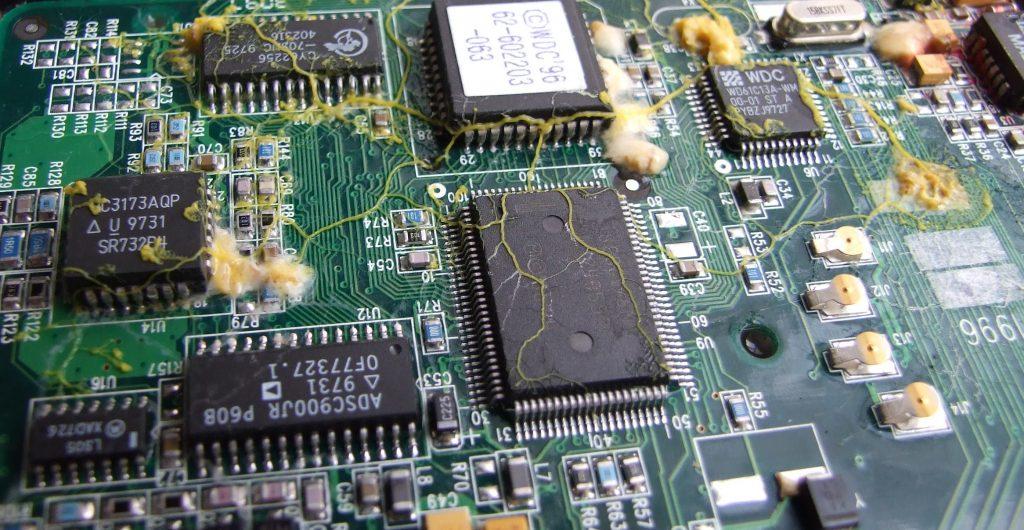 mold on server circuit board