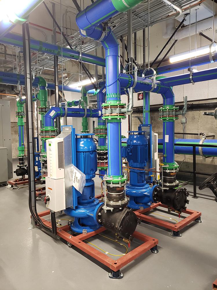 Simon Fraser University mechanical room monitoring - rope water sensor
