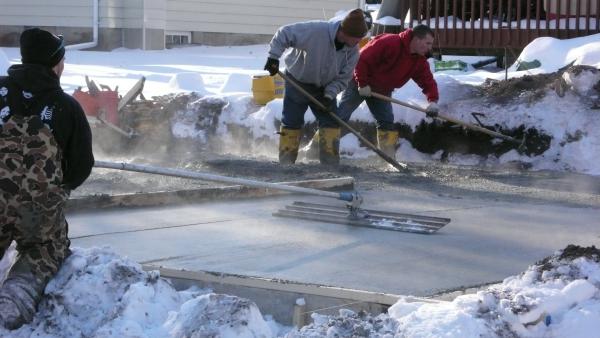 Cold Weather Concrete Temperature