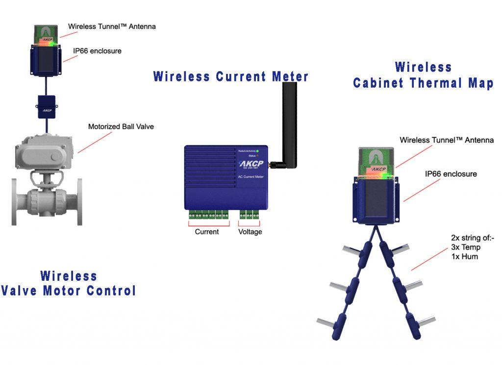 AKCP REAR-DOOR HEAT EXCHANGER WIRELESS MONITORING